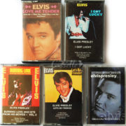 BỘ 5 BĂNG CASSETTE ELVIS: LOVE ME TENDER, I GOT LUCKY, BURNING LOVE AND HITS FROM HIS MOVIES – VOL.2, LET'S BE FRIENDS, THE LOVE SONGS