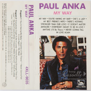 BĂNG CASSETTE PAUL ANKA, MY WAY