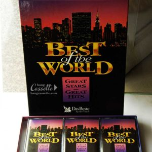 Bộ 5 băng cassette BEST OF THE WORLD, GREAT STARS, GREAT HITS